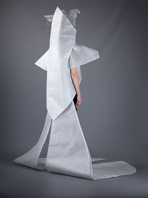 paco rabanne futuristic wedding dress  silver white lyst