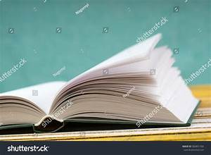 Open Book On Wooden Table Back Stock Photo 582851704 ...