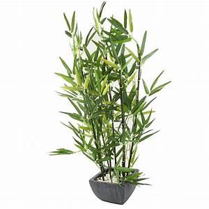 Pot De Fleur Artificielle : plante artificielle bambou bambou artificiel avec pot ~ Teatrodelosmanantiales.com Idées de Décoration