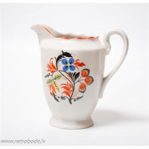 Porcelāna krējuma trauks, Rīgas Keramikas Fabrika