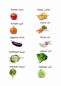 vegetables names