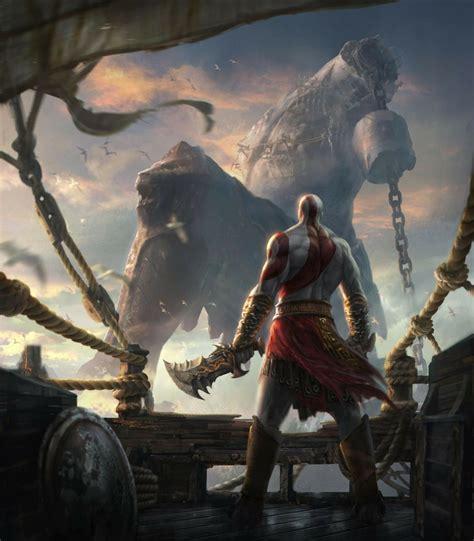 God Of War Concept Art Artwork Chains Blades Kratos God Of