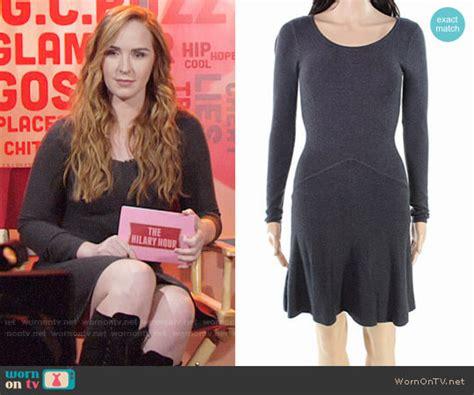 wornontv mariahs grey sweater dress   young