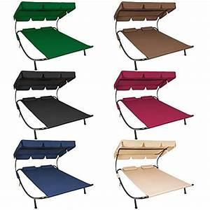 Chaise Longue Bain De Soleil : tectake 2 places bain de soleil chaise longue de jardin ~ Dailycaller-alerts.com Idées de Décoration