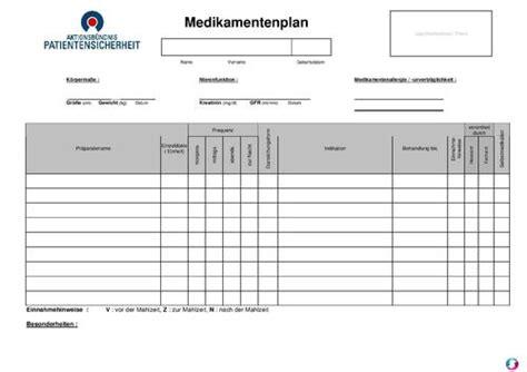 medikamentenplan pdfword zum ausdrucken sonstiges