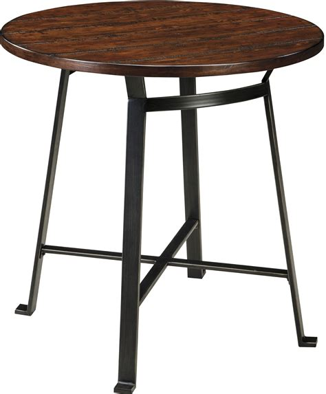 round bar table and chairs challiman round dining room bar table from ashley d307 12