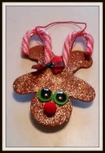 Candy Cane Reindeer Ornament Craft