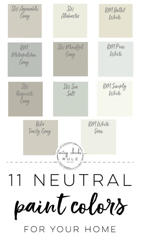 11 neutral paint colors for your home artsy rule 174
