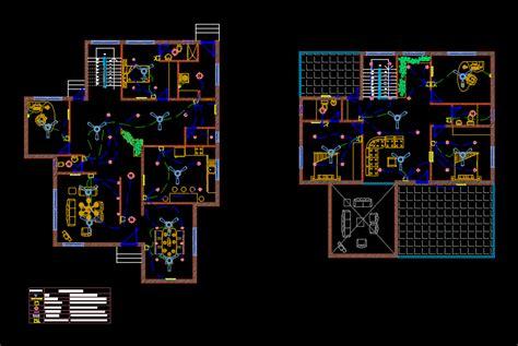 electrical layout   villa  autocad cad  kb bibliocad