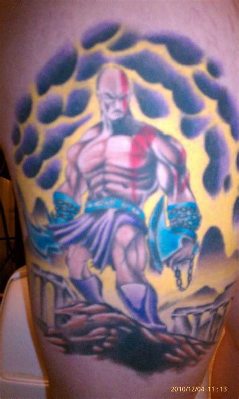 kratos finished tattoo