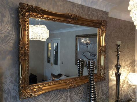 X Large Antique Gold Shabby Chic Ornate Decorative Wall Mirror Free Postage Antique Street Lights Chinese Porcelain Wine Cabinet Lace Curtains Shows In Florida Large Mirrors Brass Towel Ring Furniture Seattle