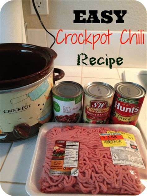 5 ingredient crock pot recipes 5 ingredient crockpot chili recipe 183 the typical mom