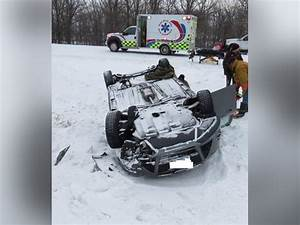 Man Comes To Wife39s Rescue In Snowy Rollover Crash In