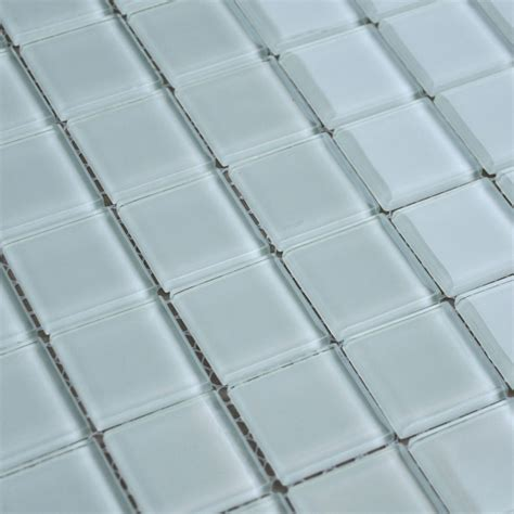 wholesale free shipping white glass mosaic tile