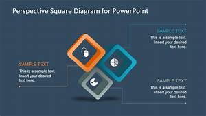 Perspective Square Diagram For Powerpoint