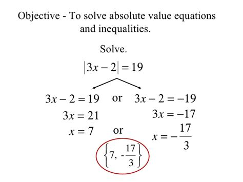 17 Solving Absolute Value Equations And Inequalities