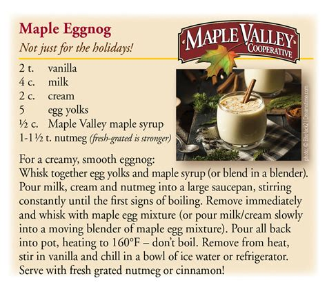 eggnog recipe maple eggnog weaver street market