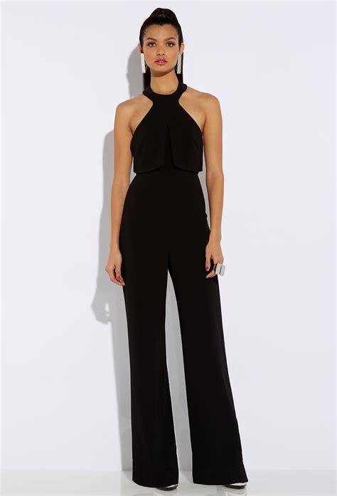 and black jumpsuit aq aq black halterneck jumpsuit