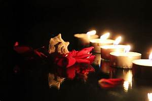 Candle and Roses Desktop Wallpaper - WallpaperSafari