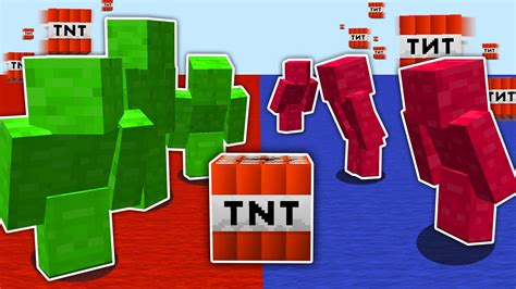 minecraft red  blue tnt wars insanely good youtube