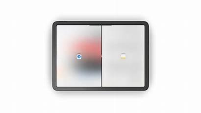 Ipad Split Naast Elkaar Twee Apps App
