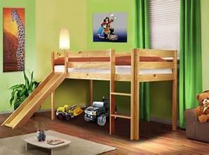 Kinderbett Massivholz 90x200 : massivholz kinderbett mit rutsche kinderhochbett neu ~ Whattoseeinmadrid.com Haus und Dekorationen