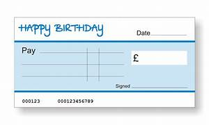 Big birthday cheques the home of big presentation cheques for Birthday cheque template