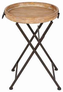 marmora round tray table black metal and rustic wood With round metal tray coffee table