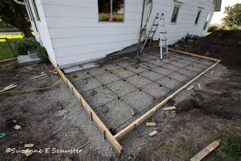 pouring concrete patio modern patio outdoor