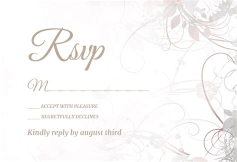 floral swirls  rsvp card template  island
