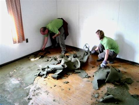 Removing a Carpet Covering a Hardwood Floor   How To Build