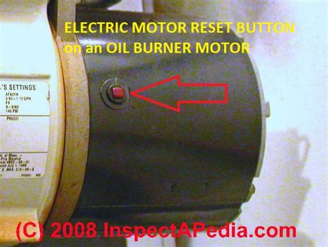 electric motor reset button motor overload reset switch