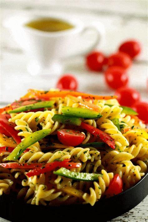 cold pasta salad  italian dressing scrambled chefs
