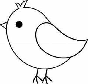 Bird Coloring Pages - Easy Bird Coloring Page