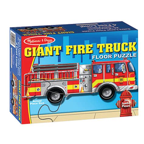 melissa doug giant fire truck 24 piece floor puzzle by