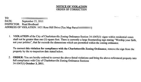 charlottesville city orders political sign  pvt