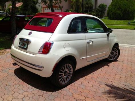 2012 Fiat 500c Lounge by Buy Used 2012 Fiat 500c Lounge Convertible Pearl White