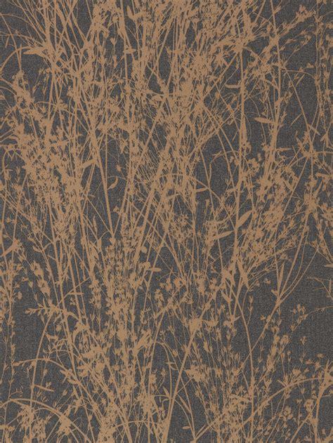 meadow canvas  sanderson bronze charcoal wallpaper