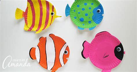 paper plate tropical fish  vibrant  fun paper plate