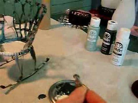 fabriquer une chaise miniature berçante boîte de conserve