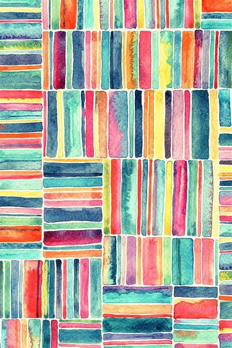 retro beach chair watercolor stripes  cream watercolor