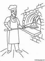 Baker Boulanger Coloring Coloriage Drawing Pages Printable Imprimer Dessin Boulangerie Professions Profession Line Colorier Dessins sketch template