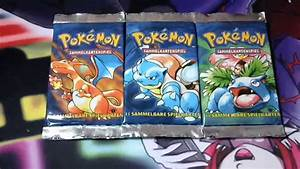 Pokemon Base Set German First Edition Booster Pack Opening ...