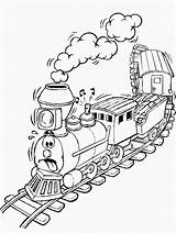 Coloring Pages Train Coloringpages1001 sketch template
