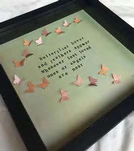 memorial sympathy gift frame. Lost loved one, angels. Frame- butterfly quote