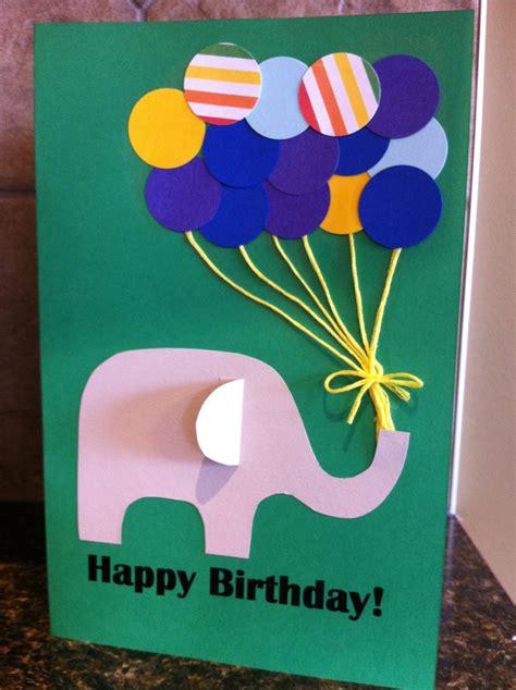 paper punch balloon birthday card  kid craft