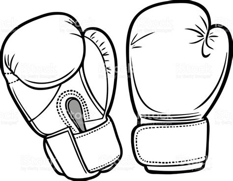 Boxing Gloves Coloring Pages To Print