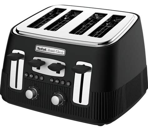tefal toasters uk buy tefal avanti classic tt780n40 4 slice toaster matte