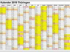 Kalender ferien 2019 Thüringen Ausdrucken, Feiertage
