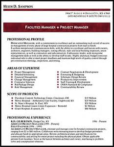 resume template for facility manager professional resume sles by julie walraven cmrw